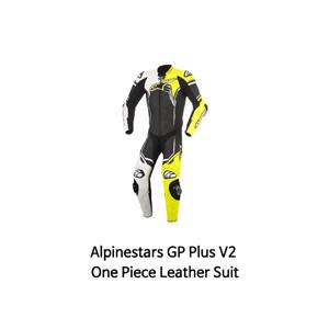 알파인스타 슈트, 가죽 슈트, 원피스 슈트 Alpinestars GP Plus V2 One Piece Leather Suit (Black/White/Yellow)