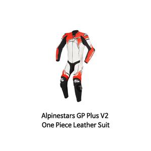 알파인스타 슈트, 가죽 슈트, 원피스 슈트 Alpinestars GP Plus V2 One Piece Leather Suit (White/Black/Red)