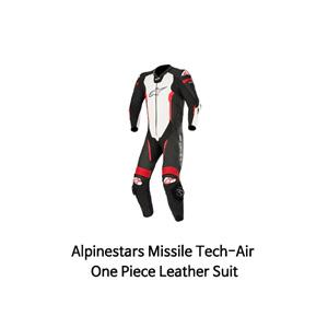 알파인스타 슈트, 가죽 슈트, 원피스 슈트 Alpinestars Missile Tech-Air One Piece Leather Suit (Black/White/Red)