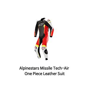 알파인스타 슈트, 가죽 슈트, 원피스 슈트 Alpinestars Missile Tech-Air One Piece Leather Suit (Black/White/Red/Yellow)