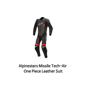 알파인스타 슈트, 가죽 슈트, 원피스 슈트 Alpinestars Missile Tech-Air One Piece Leather Suit (Black/Red)