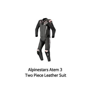 알파인스타 슈트, 가죽 슈트, 투피스 슈트 Alpinestars Atem 3 Two Piece Leather Suit (Black/White)