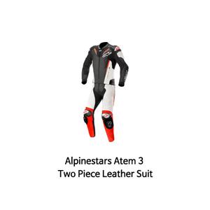 알파인스타 슈트, 가죽 슈트, 투피스 슈트 Alpinestars Atem 3 Two Piece Leather Suit (Black/White/Red)
