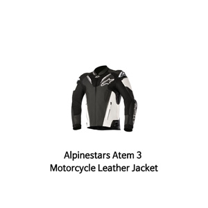 알파인스타 자켓, 가죽 자켓 Alpinestars Atem 3 Motorcycle Leather Jacket (Black/White)