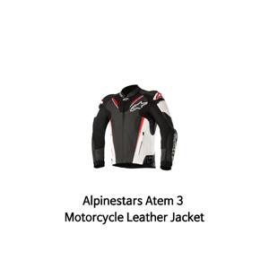 알파인스타 자켓, 가죽 자켓 Alpinestars Atem 3 Motorcycle Leather Jacket (Black/White/Red)