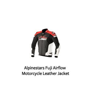 알파인스타 자켓, 가죽 자켓 Alpinestars Fuji Airflow Motorcycle Leather Jacket (Black/White/Red)