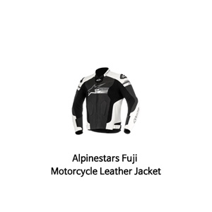 알파인스타 자켓, 가죽 자켓 Alpinestars Fuji Motorcycle Leather Jacket (Black/White)