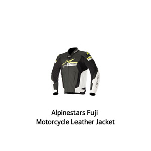 알파인스타 자켓, 가죽 자켓 Alpinestars Fuji Motorcycle Leather Jacket (Black/White/Yellow)