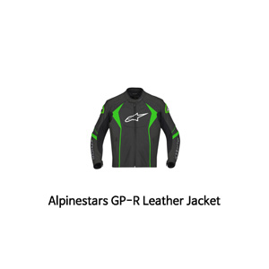 알파인스타 자켓, 가죽 자켓 Alpinestars GP-R Leather Jacket (Black/Green)