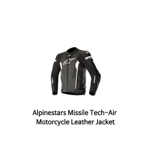 알파인스타 자켓, 가죽 자켓 Alpinestars Missile Tech-Air Motorcycle Leather Jacket (Black/White)