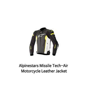 알파인스타 자켓, 가죽 자켓 Alpinestars Missile Tech-Air Motorcycle Leather Jacket (Black/White/Yellow)