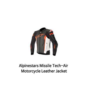 알파인스타 자켓, 가죽 자켓 Alpinestars Missile Tech-Air Motorcycle Leather Jacket (Black/White/Red)