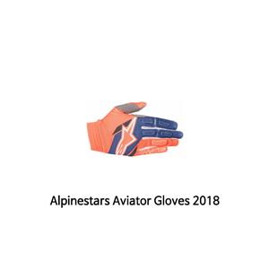알파인스타 장갑 Alpinestars Aviator Gloves 2018 (Orange/Blue)