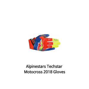 알파인스타 장갑 Alpinestars Techstar Motocross 2018 Gloves (Red/Blue)