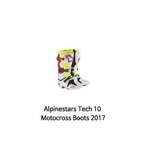 알파인스타 부츠 Alpinestars Tech 10 Motocross Boots 2017 (White/Red/Yellow)