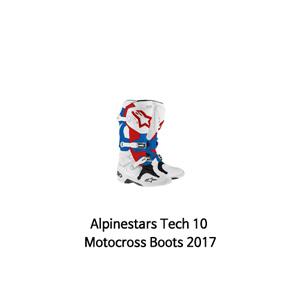 알파인스타 부츠 Alpinestars Tech 10 Motocross Boots 2017 (White/Blue/Red)