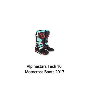 알파인스타 부츠 Alpinestars Tech 10 Motocross Boots 2017 (Turquoise)