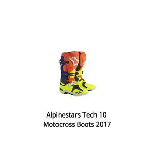 알파인스타 부츠 Alpinestars Tech 10 Motocross Boots 2017 (Orange/Blue)