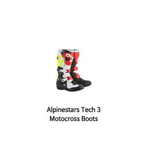 알파인스타 부츠 Alpinestars Tech 3 Motocross Boots (Black/White/Red/Yellow)