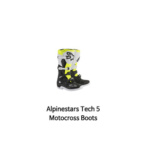 알파인스타 부츠 Alpinestars Tech 5 Motocross Boots (Black/White/Yellow)