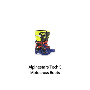 알파인스타 부츠 Alpinestars Tech 5 Motocross Boots (Blue/Black/Yellow)