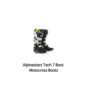 알파인스타 부츠 Alpinestars Tech 7 Boot Motocross Boots (Black/White)