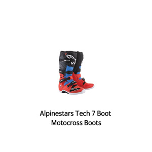 알파인스타 부츠 Alpinestars Tech 7 Boot Motocross Boots (Red/Black/Blue)