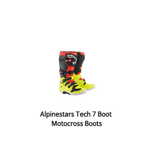 알파인스타 부츠 Alpinestars Tech 7 Boot Motocross Boots (Yellow/Red/Black)