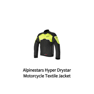 알파인스타 자켓 Alpinestars Hyper Drystar Motorcycle Textile Jacket (Black/Yellow)