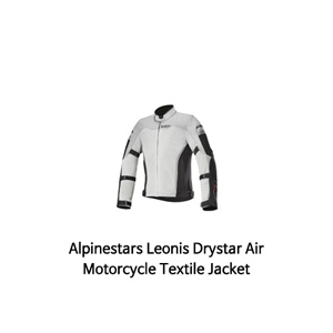 알파인스타 자켓 Alpinestars Leonis Drystar Air Motorcycle Textile Jacket (Black/Light Gery)