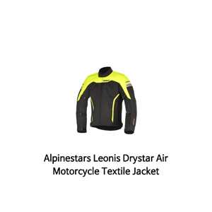 알파인스타 자켓 Alpinestars Leonis Drystar Air Motorcycle Textile Jacket (Black/Yellow)