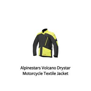 알파인스타 자켓 Alpinestars Volcano Drystar Motorcycle Textile Jacket (Black/Yellow)