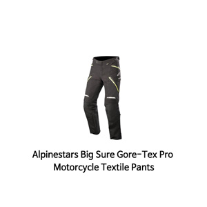 알파인스타 바지 Alpinestars Big Sure Gore-Tex Pro Motorcycle Textile Pants (Black/Yellow)