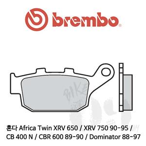 혼다 Africa Twin XRV 650 / XRV 750 90-95 / CB 400 N / CBR 600 89-90 / Dominator 88-97 / 리어용 브레이크패드 브렘보 신터드 스트리트