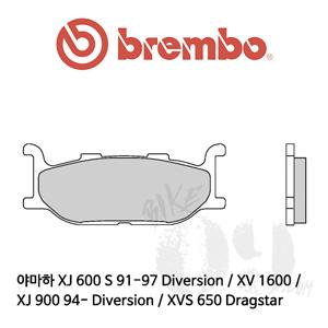 야마하 XJ 600 S 91-97 Diversion / XJ 900 94- Diversion / XV 1600 / XVS 650 Dragstar / 브레이크패드 브렘보 신터드 스트리트