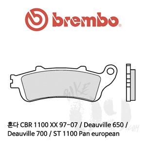 혼다 CBR 1100 XX 97-07 / Deauville 650 / Deauville 700 / ST 1100 Pan european / 리어용 브레이크패드 브렘보 신터드 레이싱