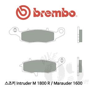 스즈키 Intruder M 1800 R / Marauder 1600 / 리어용 브레이크 패드 브렘보 신터드 스트리트