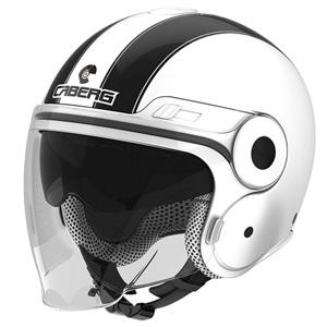카베르그 헬멧 Caberg Uptown Legend Jet Helmet (White/Black)