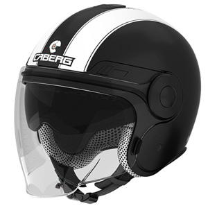 카베르그 헬멧 Caberg Uptown Legend Jet Helmet (Black Matt/White)