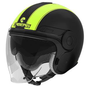 카베르그 헬멧 Caberg Uptown Legend Jet Helmet (Black Matt/Yellow)