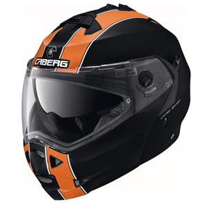 카베르그 헬멧 Caberg Duke Legend Flip-Up Helmet Black Matt/Orange