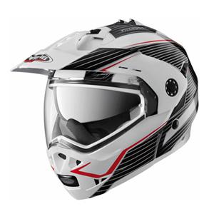 카베르그 헬멧 Caberg Tourmax Sonic Enduro Flip-Up Helmet (White/Black/Red)