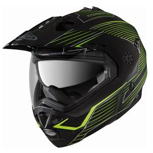 카베르그 헬멧 Caberg Tourmax Sonic Enduro Flip-Up Helmet (Black Matt/Yellow)
