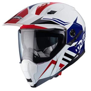 카베르그 헬멧 Caberg Xtrace Lux Enduro Helmet (White/Red/Blue)