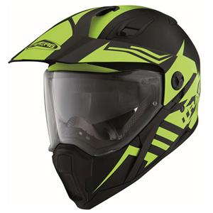 카베르그 헬멧 Caberg Xtrace Lux Enduro Helmet (Black Matt/Yellow)
