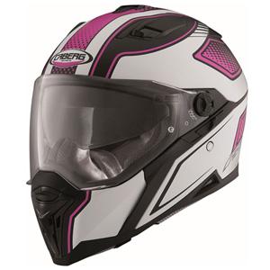 카베르그 헬멧 Caberg Stunt Blade Helmet (Black Matt/White/Pink)