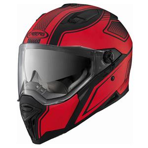 카베르그 헬멧 Caberg Stunt Blade Helmet (Black Matt/Red)