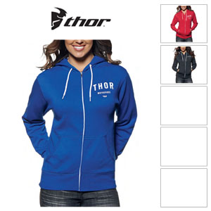 [Thor/오프로드 후드집업]WOMEN'S SHOP ZIP-UP HOODY (BLUE/ WHITE)