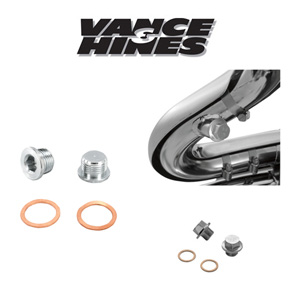 [반스&힌스 머플러]VANCE&HINCES/twin slash staggereds/YAMAHA XV1300 Stryker 11-14 Requires sensor port plugs [1861-0464]