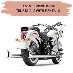 (07-11) 소프테일 디럭스 TRUE DUALS WITH FISHTAILS 풀시스템 할리 머플러 코브라